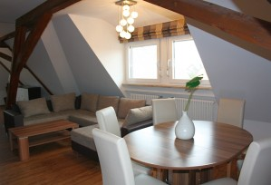 Loft-Appartment: Essbereich