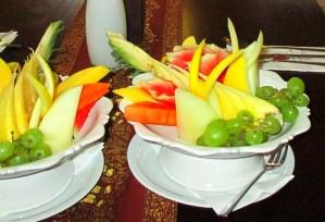 Restaurant-Speisekarte: Frischer Obstteller