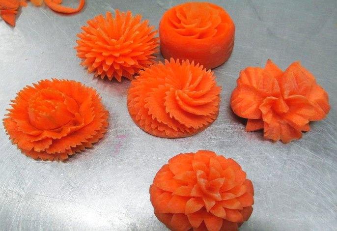 Karotten | Obst- & Gemüseschnitzereien im Thai Tawan - Thailändisches Restaurant im Breisgau b. Europa-Park Rust