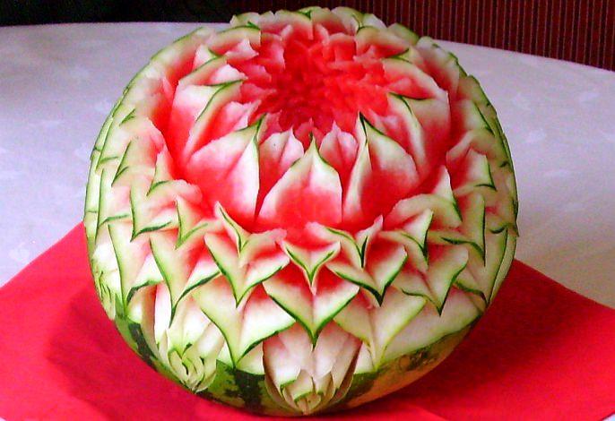 Wassermelone | Obst- & Gemüseschnitzereien im Thai Tawan - Thailändisches Restaurant im Breisgau b. Europa-Park Rust
